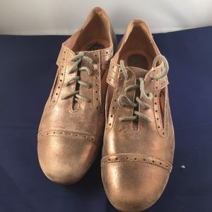 Fossil Oxford Shoes Size 7 Womens Bronze